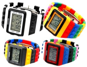 Kolorowy Zegarek jelly watch Shhors led damski