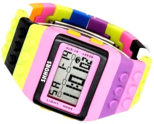 Kolorowy Zegarek lego jelly watch Shhors led A