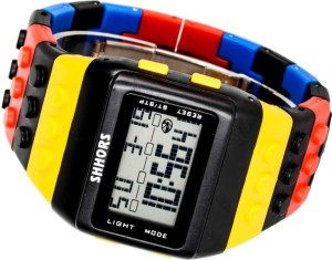 Kolorowy Zegarek jelly watch Shhors led B