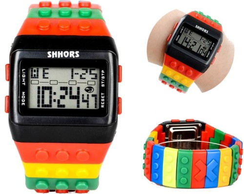 Kolorowy Zegarek jelly watch Shhors led C