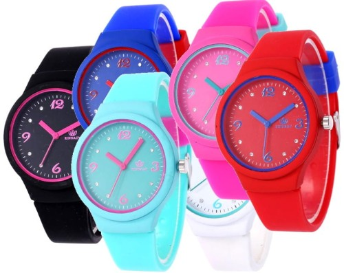 Kolorowy Zegarek jelly watch Candy watch silikonowy Damski