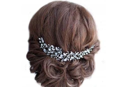 499f0b9ee981ff Srebrna Tiara Ozdoba ślubna do włosów diadem stroik - Sklep internetowy  EdiBazzar